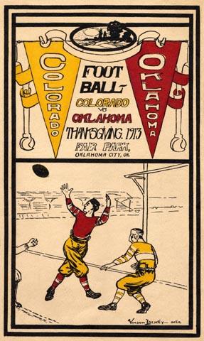 Oklahoma Vs Colorado Poster 1913 Football Poster