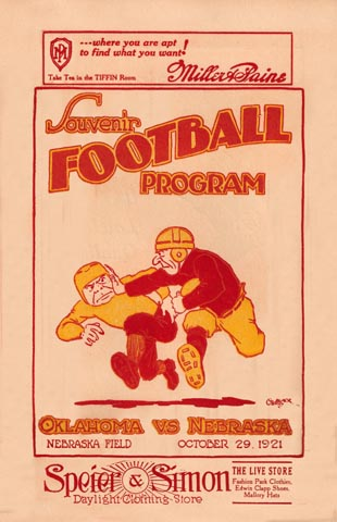 Something vintage college football posters